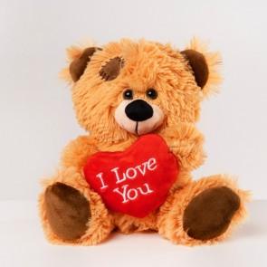 Pjusket 'I love you' bamse