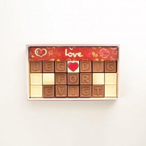 Jeg elsker dig for evigt - 21 Chokoladestykker
