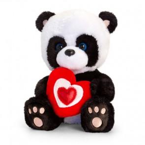 """Panda teddybjørn med """"Love"""" hjerte"""
