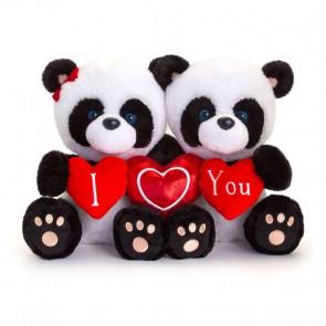"Pippi teddy med et ""Jeg elsker dig"" hjerte"