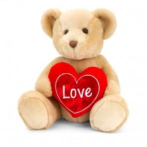 """teddybjørn med """"Love"""" hjerte"""