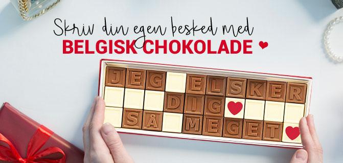 personlig besked chokolade