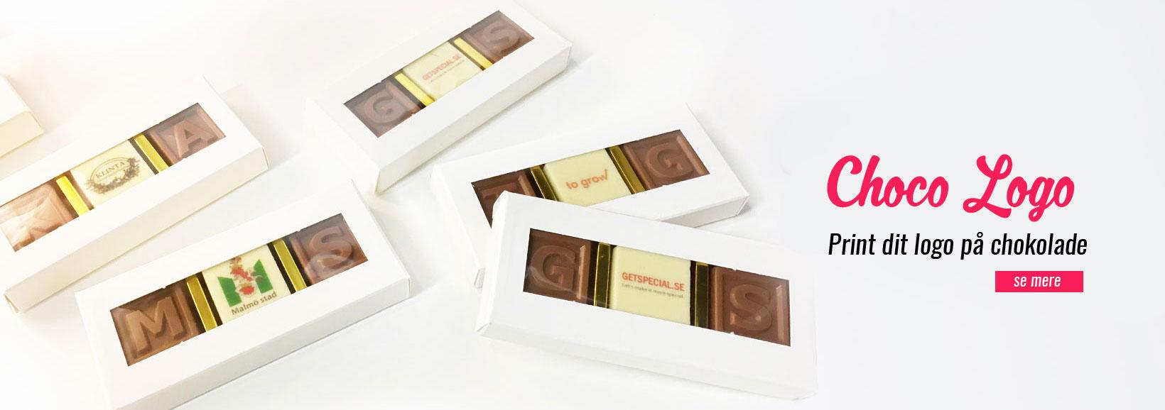 logo på choklade